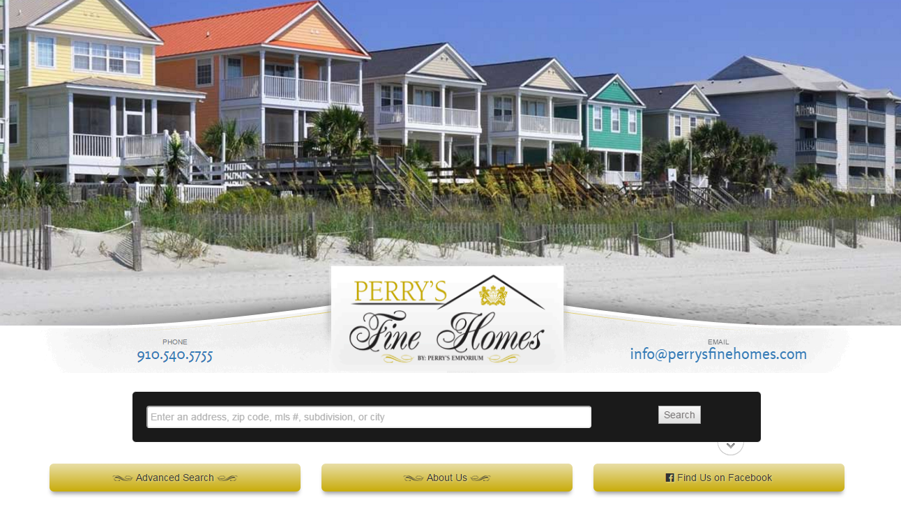 Perry's Fine Homes Real Estate Website