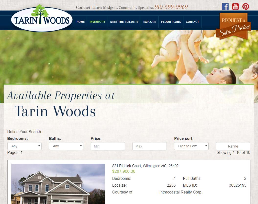 Tarin Woods Website