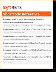 SEO RETS Shortcode Cheatsheet