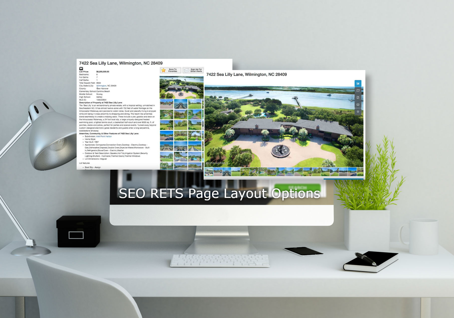Real Estate Webpage Layout Options