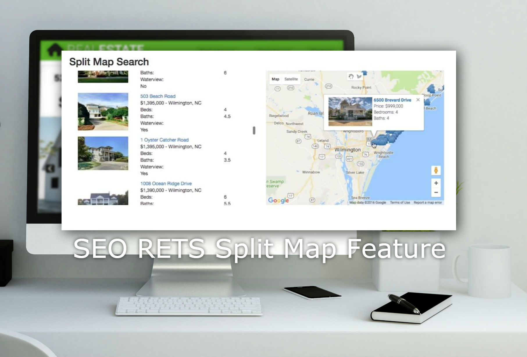 Real Estate Map Feature